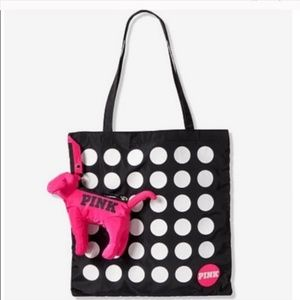 "VS/PINK ""PINK"" Foldable Zipper Dog Tote NWT"